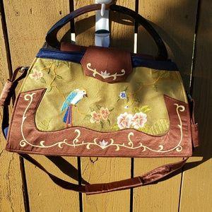 Vintage  beautiful Asian inspired satchel